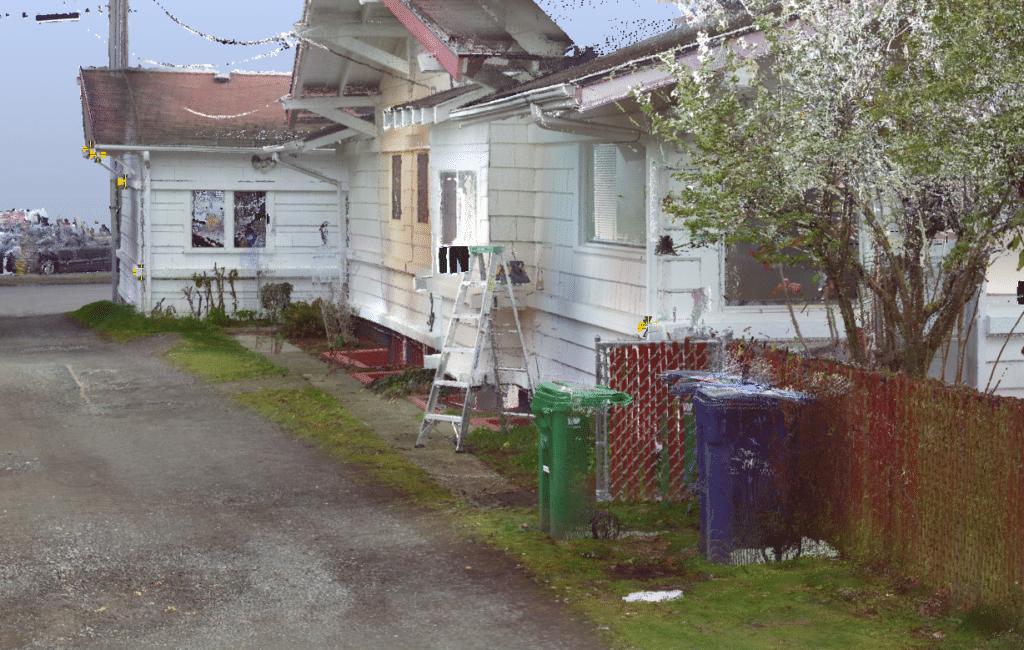 3d laser scan house
