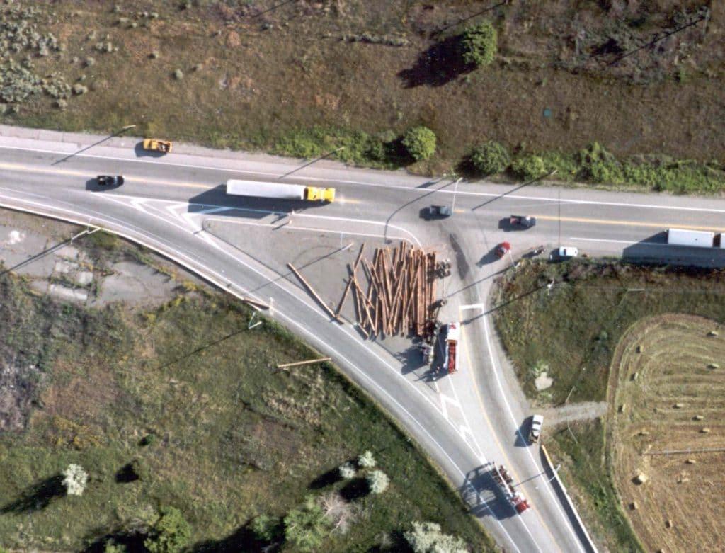 logging truck rollover accident